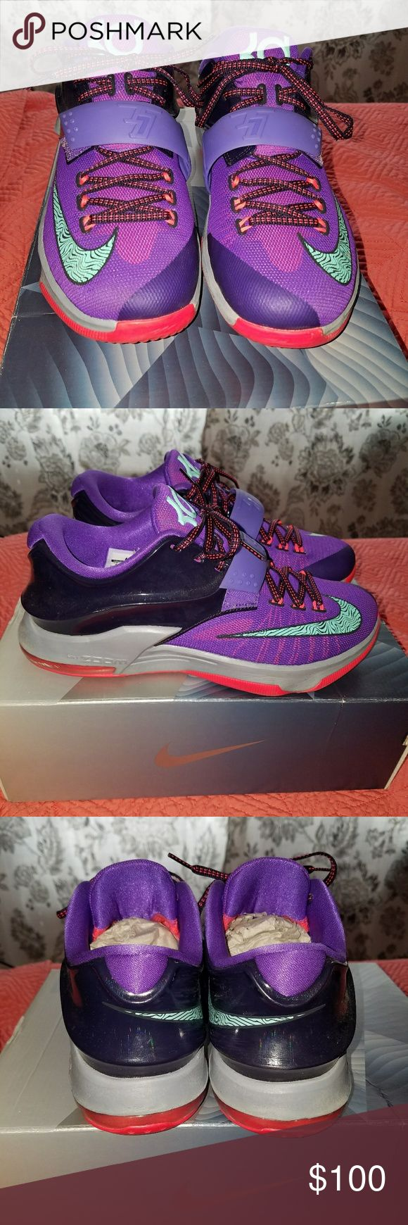 Nike Kevin Durant KD 7 Cave Purple Men's Size 8 Nike Kevin Durant KD 7 Cave Purple Basketball shoes Used but like new condition, only worn a handful of times 100% authentic  Men's size 8 Nike Shoes Sneakers