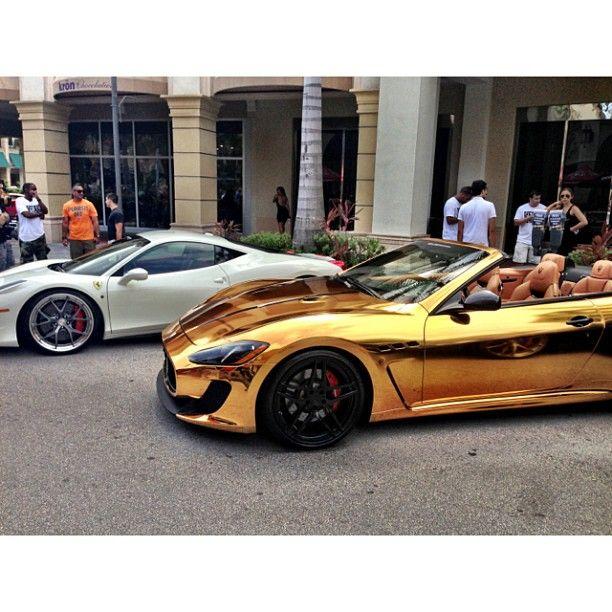 Gold Chrome Maserati