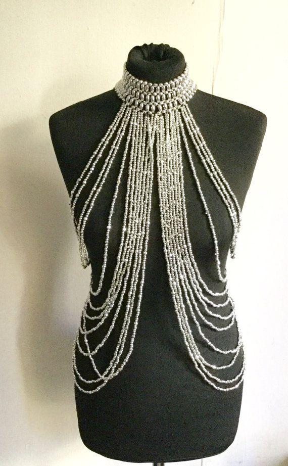 Body chain / necklace body / tribal fusion / by ElbazardeKali