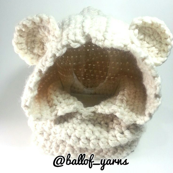 #Bear #cowl for toddlers  Pattern I used is by  Heidi May of TheVelvetAcorn  #homemade #handmade