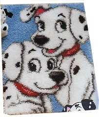 "DALMATIANS Latch Hook Kit 18"" X 26"" 