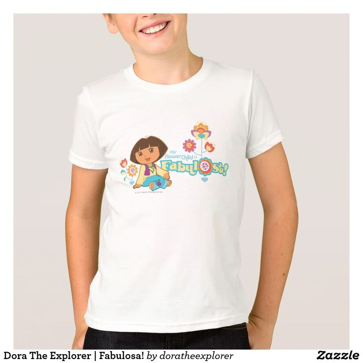 Dora The Explorer | Fabulosa! T-Shirt. Producto disponible en tienda Zazzle. Vestuario, moda. Product available in Zazzle store. Fashion wardrobe. Regalos, Gifts. Trendy tshirt. #camiseta #tshirt