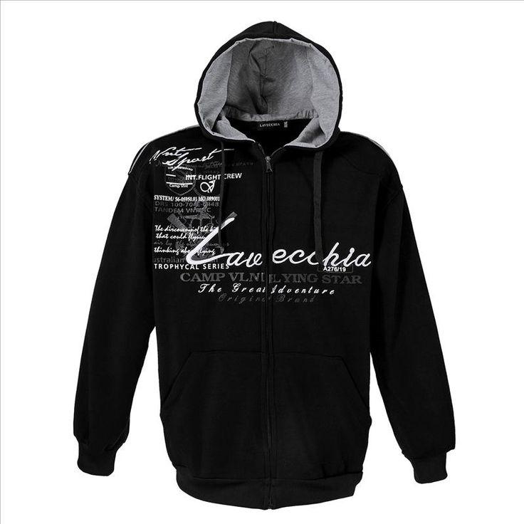 Sweatshirt Jacke Schwarz Herrenmode XXL