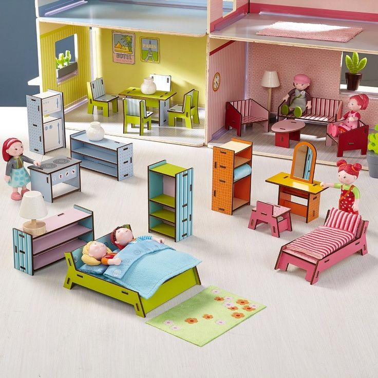 Conjunto Completo de Móveis Little Friends - HABA | Cristina Siopa