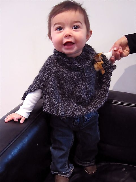 Baby Gaga knitted capelet by Gina Bonomo makes you want to have a baby girl to knit it for!