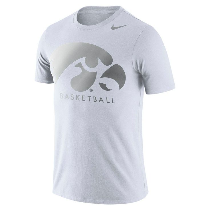 Men's Nike Iowa Hawkeyes Basketball Tee, Size: Large, White