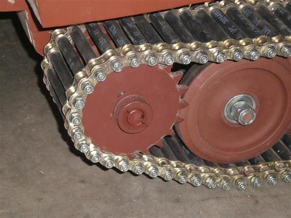 How-To: DIY tank treads from roller chain, rubber hose, nuts & bolts