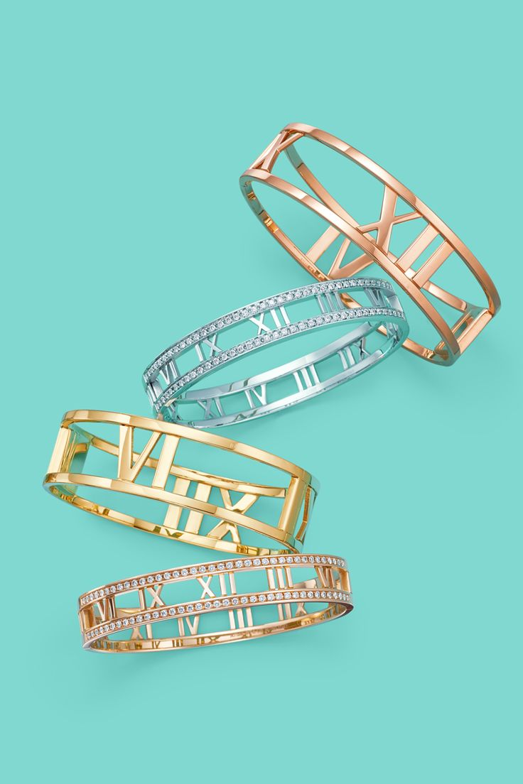 Atlas® bangles in 18k gold. #TiffanyPinterest