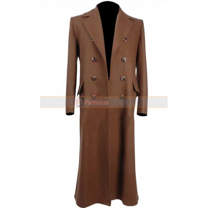 Tenth Doctor Who David Tennant Brown Trench Coat For Sale