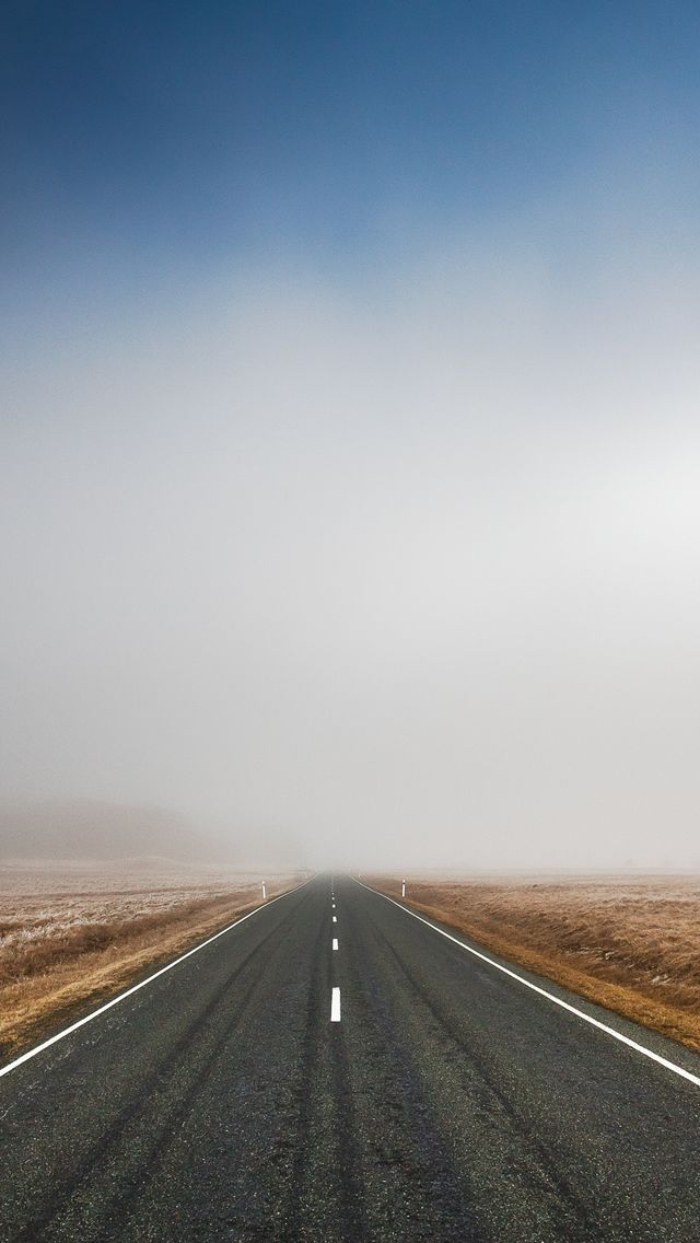 Mist Highway iPhone Wallpaper