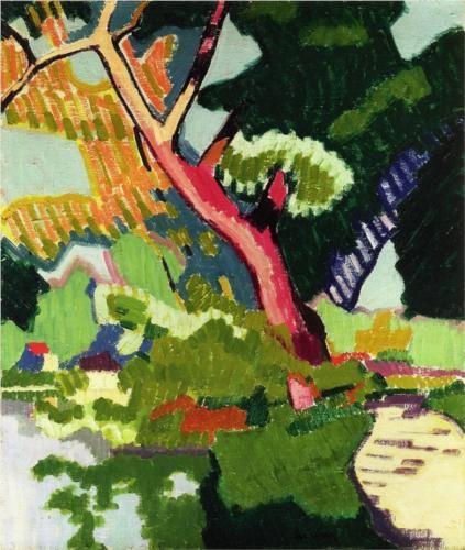 Landscape of a waterway  - Auguste Herbin