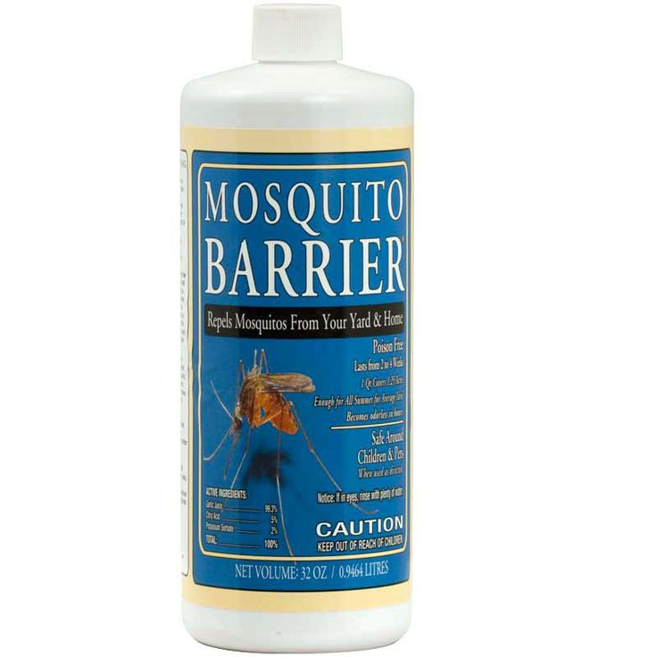 Mosquito Barrier (32 Oz) - Enjoy being out in your mosquito-free lawn area or garden with the help of this very strong liquid garlic repellent.  The garlic smell dissipates within minutes while the natural sulfur in garlic continues to repel mosquitoes, ticks, gnats and fleas.