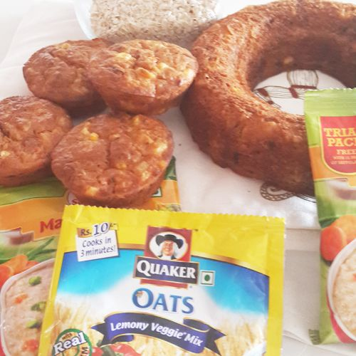 Savoury Oats Muffins: This recipe derives its flavours from the seasoning and herbs that can be adjusted as per your taste.