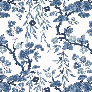 Tabley House Floral Porcelain Wallpaper - asian - wallpaper - Ralph Lauren Home