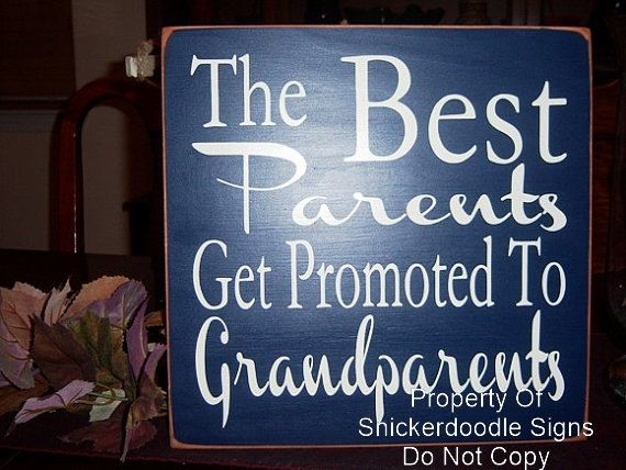 The Best Parents Get Promoted To Grandparents Wood Sign, Grandparent Signs, Parent Signs, Grandparent Gifts on Etsy, $24.95