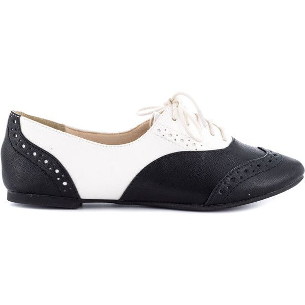 Restricted Women's Sweet Pea - Black ($38) ❤ liked on Polyvore featuring shoes, oxfords, flats, oxford, black flat shoes, lace up oxford flats, vegan shoes, vegan flats and oxford shoes