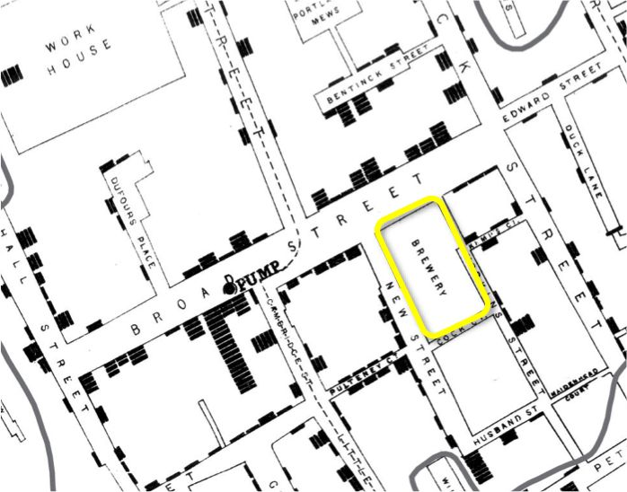 Another example of portraying zero comes from the famous dot-point map created by John Snow to plot the deaths from the outbreak of cholera ...