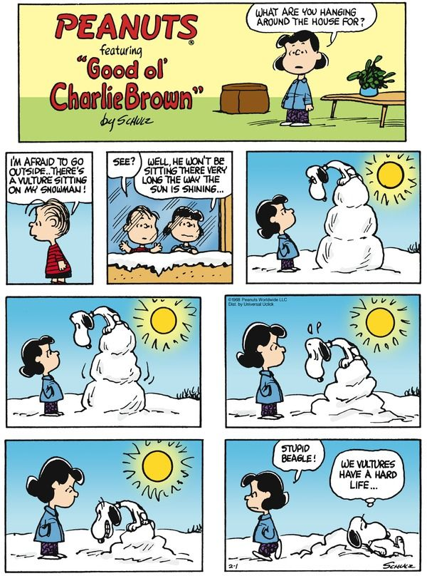 Peanuts  ~  February 1, 2015  (originally published on February 4, 1968)
