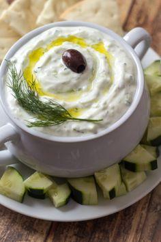 Authentic Greek Tzatziki Dip // recipe + method from Athens #veggielove #appetizer