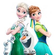 Images from the short film Frozen Fever.