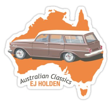 Holden EJ (Special) Station Sedan - Australian Classics by contourcreative | redbubble.com | $2.74