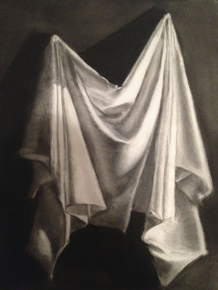 Drapery Study Charcoal, Jane Kellogg