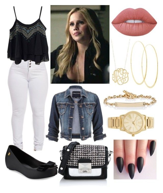 Lolla 1* by llollas on Polyvore featuring polyvore moda style maurices Melissa Karl Lagerfeld Michael Kors Hoorsenbuhs Lana Ginette NY Lime Crime fashion clothing
