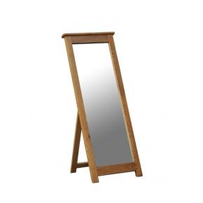 Rustic Solid Oak SRDM40 Cheval Mirror  www.easyfurn.co.uk
