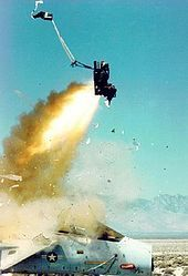 Ejection seat - United States Air Force F-15 Eagle ejection seat test using a mannequin.
