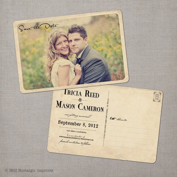 Vintage Save the Date Card  the Tricia by NostalgicImprints, $38.00