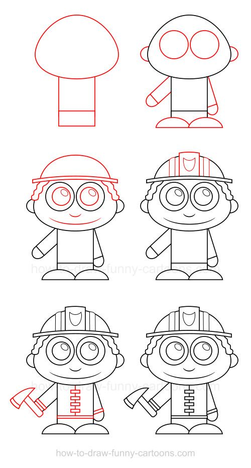 How to draw a firefighter