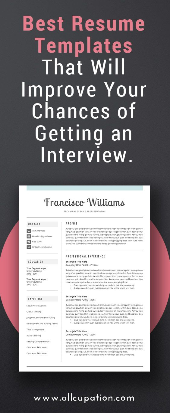 36 best Two Page Resume Template (CV Template) images on Pinterest - 2 page resume template