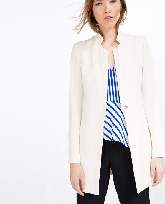 vestes femme zara france moda pinterest long blazer blazers and wardrobes. Black Bedroom Furniture Sets. Home Design Ideas