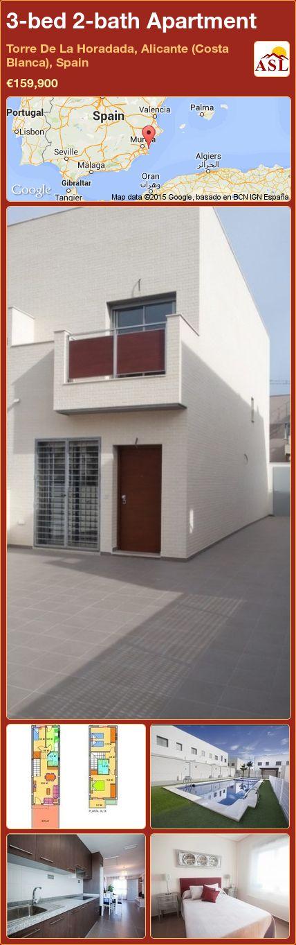 3-bed 2-bath Apartment in Torre De La Horadada, Alicante (Costa Blanca), Spain ►€159,900 #PropertyForSaleInSpain