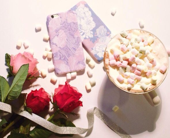 We love it, party vibes with roses and marsmallows. Set yourself in mood with cutest iphone cases to fit in your outfit.