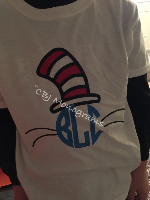 Dr. Seuss Dr. Seuss T-shirt Dr. Seuss kids shirt by CBJMonograms