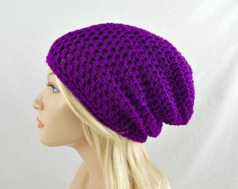 Sombrero de arco iris de neón Slouchy por trickystitchcrochet
