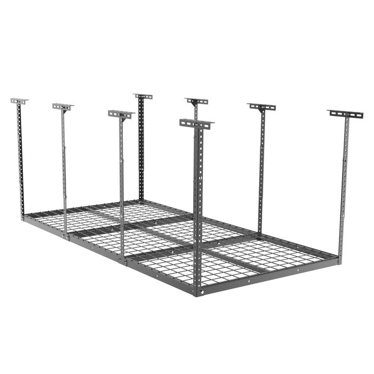 "FLEXIMOUNTS 3x6 Heavy Duty Overhead Garage Adjustable Ceiling Storage Rack, 72"" Length x 36"" Width x 40"" Height, Black, 72"" Length X 36"" I X 40"" I"