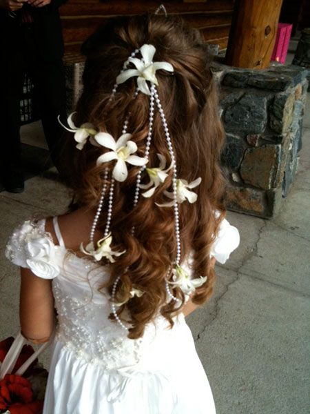 Honeymoons & Destination Weddings  Check out our Facebook Page!  https://www.facebook.com/AAHsf  Beads and Orchid flower girl hair piece.