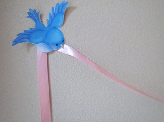 Cinderella Princess Birthday Party Bird Ribbon Banner Kit Wall Decor on Etsy, $6.00