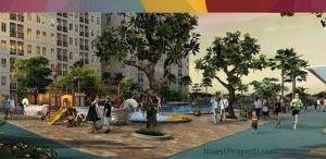 Swimming Pool dan Thematic Garden Kota Ayodhya Alam Sutera