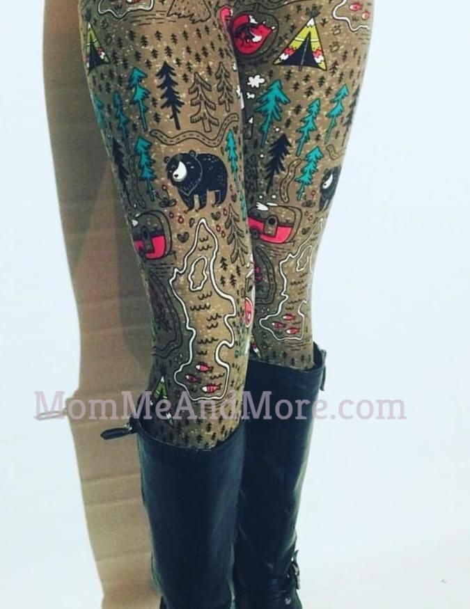 f4fae0102121a8 Women's Camping Printed Leggings Brown: OS and Plus in 2019 | Mom ...