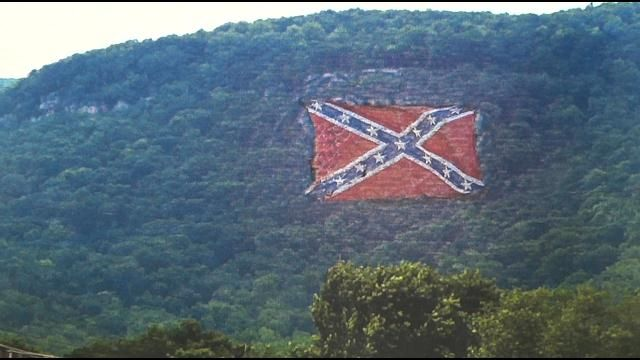 confederate flag monument going up on fredonia mountain
