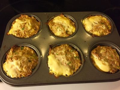 Tuna muffin, low carb, high protein