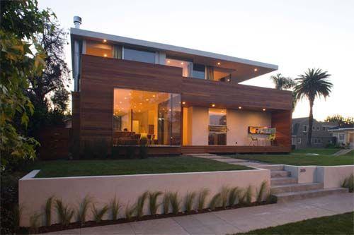 Extended facade casas pinterest fachadas for Modern house 45
