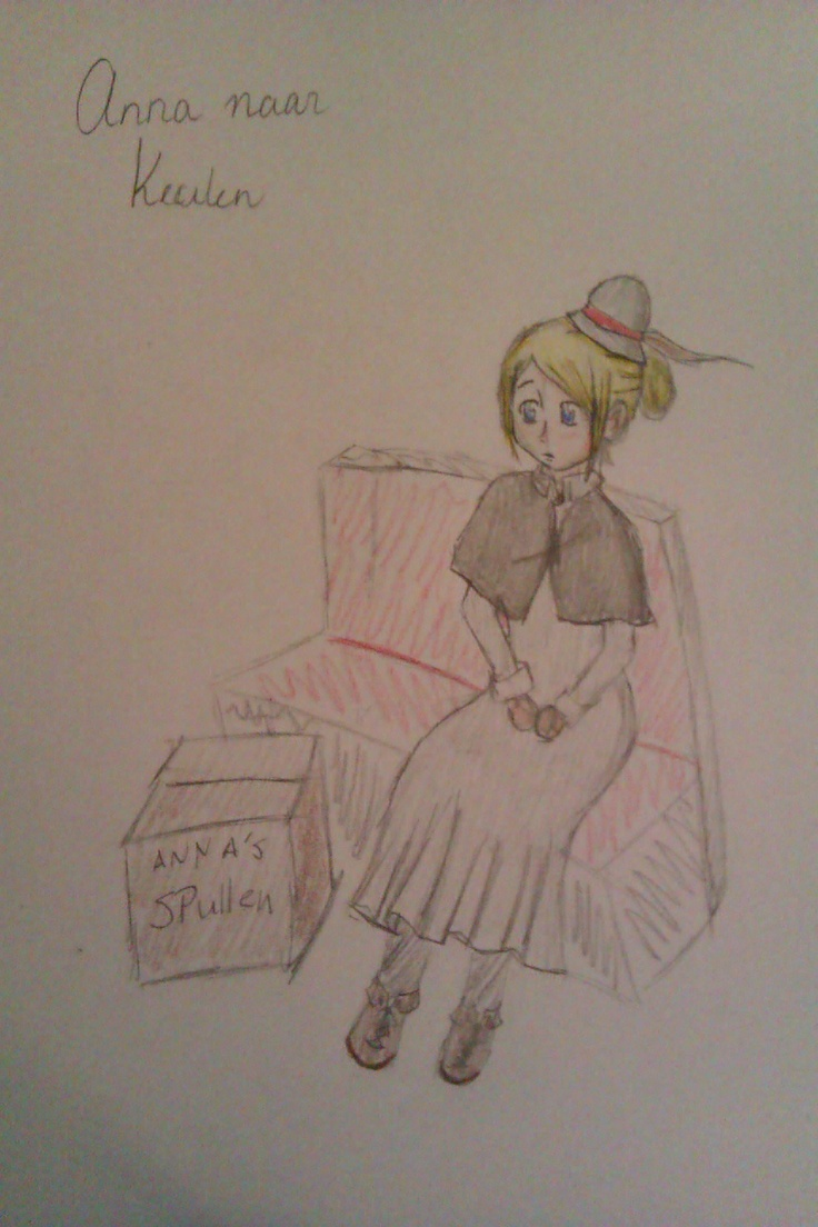 Citaat: De eerst November stapte Anna in Paderborn op de trein. Bij haar op de groei gemaakte voersmantel droeg ze een grijze vilthoed met een bruin veertje uit het zomerkleed van rietgans. In een kartonnen magarinedoos zaten haar bezittingen.