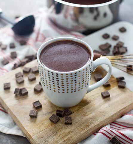 Dark Chocolate Orange Hot Chocolate - The perfect easy. holiday drink! #inspiredgathering #spon