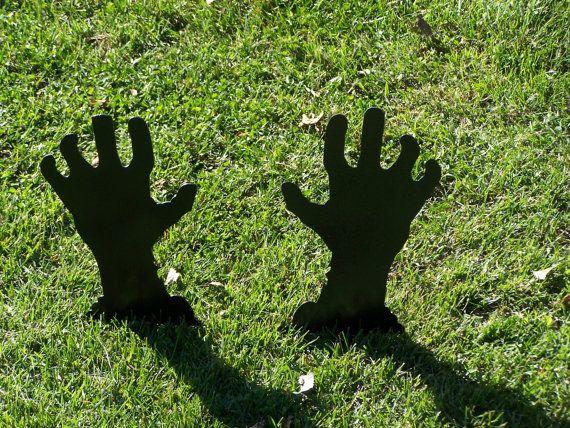 Zombie Hands Halloween Yard Decorations. by FOXHOLLOWMETALWORKS