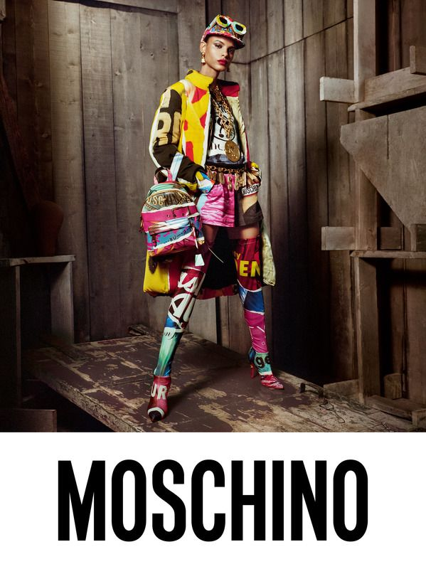 Moschino Fall Winter 2017 Ad Campaign Slick Woods, Tamy Glauser and Hiandra Martinez  by Steven Meisel