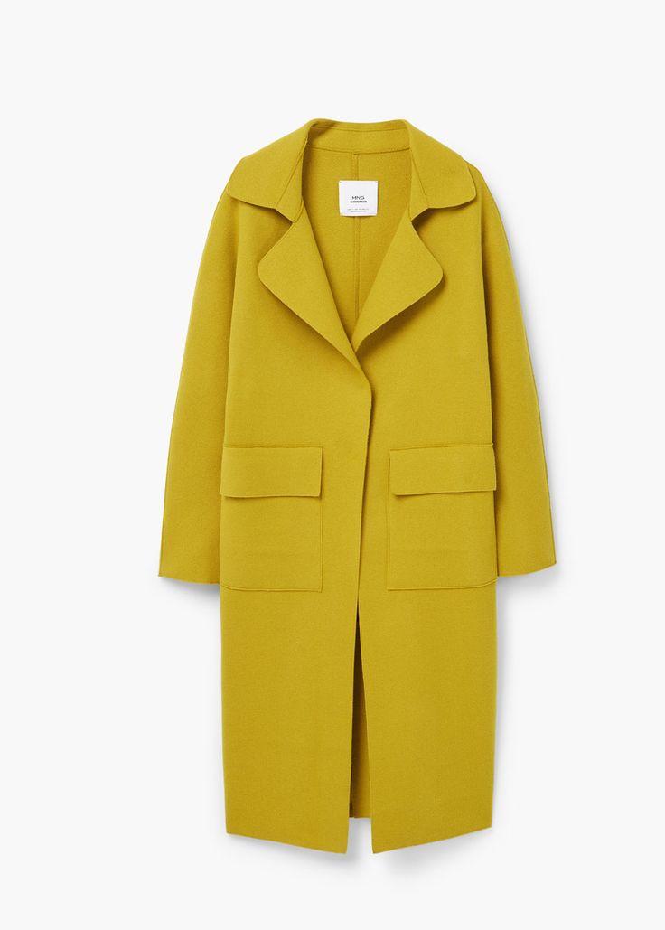 Pockets wool coat - Women   MANGO